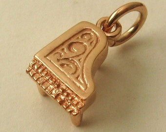 Genuine SOLID 9K 9ct ROSE GOLD Music Piano Instrument charm/pendant
