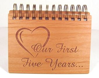 Anniversary Photo Album - 5 Year Anniversary - Wood Anniversary