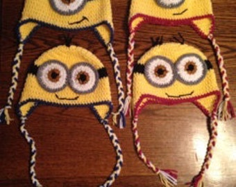 Crocheted Minion Hat