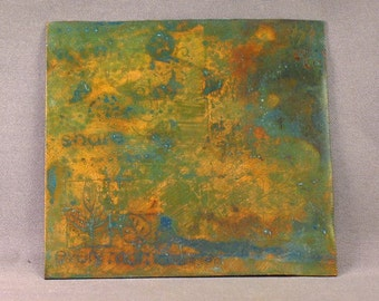 Green, Blue, Teal, Yellow VERDIGRIS Tutorial for Copper AND Brass by SRA artist Payton Jett