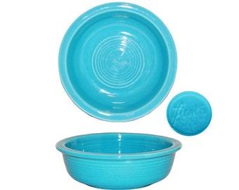 Vintage Homer Laughlin Co. Turquoise Fiesta Fruit Bowl - USA