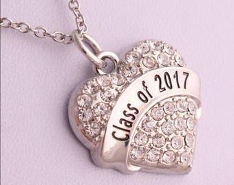 Class of 2017 graduation necklace