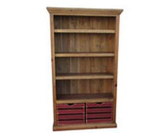 Bookcase, Bookshelves, Reclaimed Wood, Display Cabinet, Rustic, Handmade