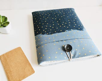 """Apple MacBook Air Sleeve, New MacBook Pro Case, Laptop Sleeve, Custom Fit 11"""", 13"""", 15.6"""", Laptop Case - Blue and Gold"""