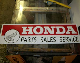 Honda Parts Sales service Metal sign 30x10 inch