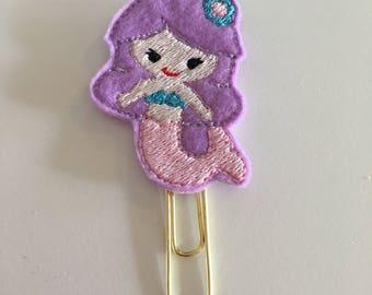 little mermaid Feltie planner clip,  Planner clip, Bookmark, Page clip, Paper clip, Planner accessories, princess, mermaid