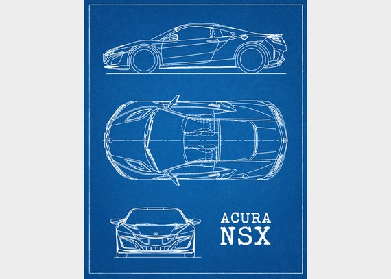 Acura nsx blueprint car blueprints acura nsx honda nsx acura nsx blueprint car blueprints acura nsx honda nsx decor instant download automotive decor printable art 8x10 11x14 malvernweather Choice Image