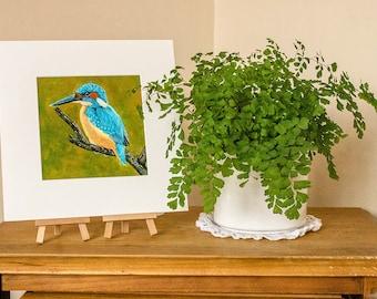 Original Kingfisher Painting, Original Art, Original Wild Bird Art, Original Painting, Kingfisher, Acrylic Painting, Kingfisher Art,