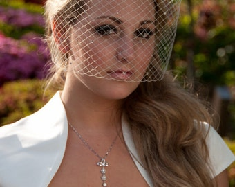 Bling-bling bridal Birdcage Veil With Swarovski Crystal Rhinestone Wedding Reception