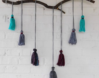 Burgundy and Teal Wall Hanging