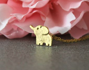 Lucky Elephant Necklace - Elephant Necklace - Baby Elephant - Chance Jewelry - Protection - Friend Necklace - Friendship - Friend Gift