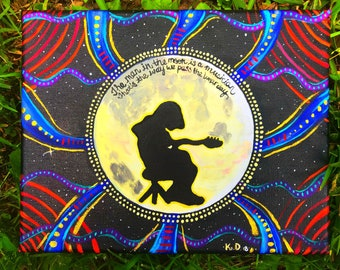 Widespread Panic original painting-Mike Houser-Widespread Panic art-Porch Song
