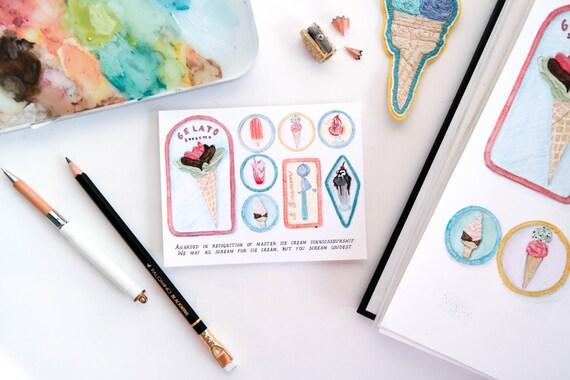 Ice Cream Connoisseur Merit Badge Card