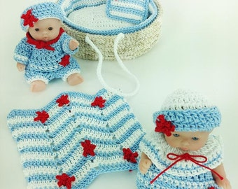 Moses Basket Baby Sailors Crochet Pattern PDF