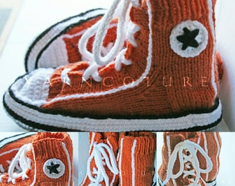 "Handknit ""Famous Maker Inspired"" Sneakers / Slippers / Unisex"