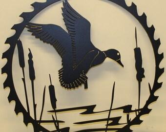Duck Sawblade Metal Wall Art Home Decor
