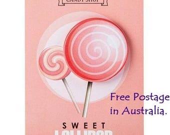 Sweet 'Lollipop' Post-It Sticky Notes