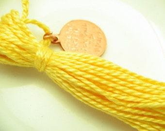 Child Yellow Graduation Zipper Pull Tassel