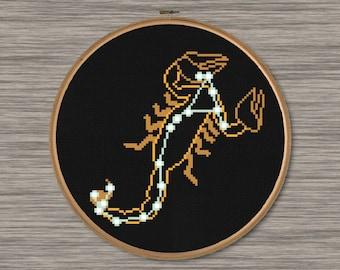 Scorpius Constellation  - PDF Cross Stitch Pattern