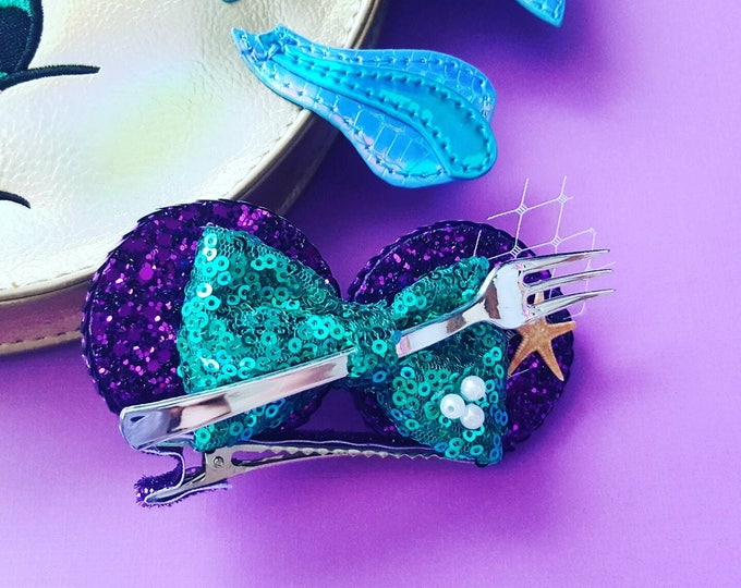 Dinglehopper Mermaid Mini Mouse Ears clip, mermaid Mouse Ears|| Mermaid Mouse Ears || Mouse Ears