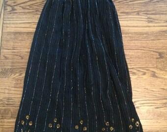Women's vintage 1980's silk maxi skirt. Size XL