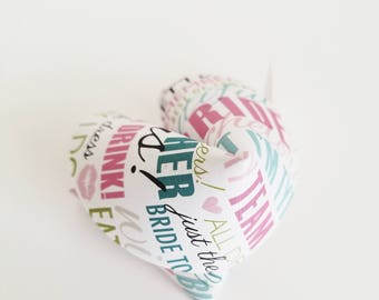 Paper Fortune Cookies Bridal Shower Favors Wedding Favors Party Favors Bachelorette Party Paper Crafts Fun Gifts Made To Order