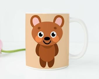 Bear Gifts Bear Decor Bear Baby Shower Bear Mug Cute Bear Designs Bear Art Bear Picture Bear Cub Animal Lovers Gift Animal Mug Bear Cup k32