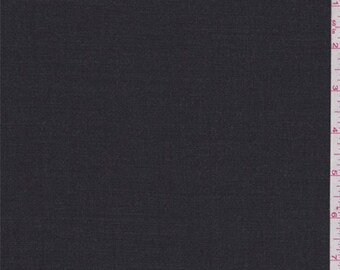 Heather Dark Charocal Lightweight Wool Suiting, Fabric By The Yard