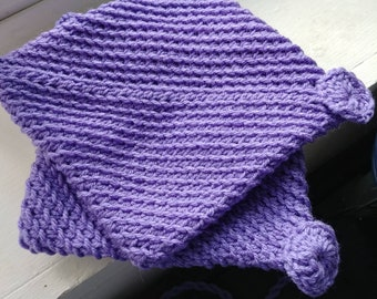 Crocheted Pot Holders/Hot Pads -- Violet Purple Double Layered Crocheted Pot Holders