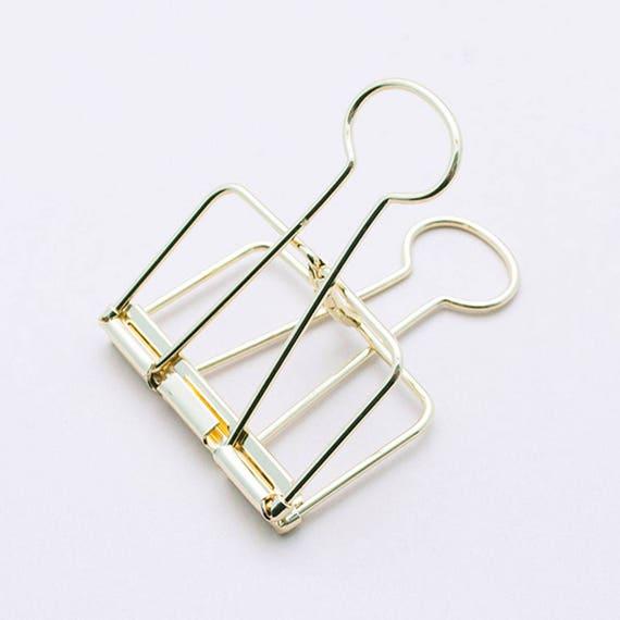 Binder Clip - goldene Foldback Klammer | erhältlich in 3 Größen