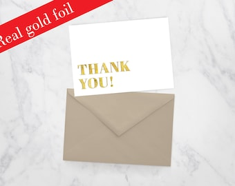 Thank You Gold Foil Card