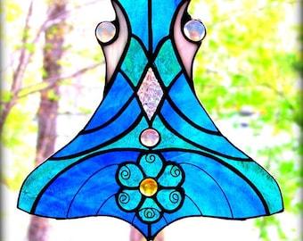 Dancer- Art Nouveau Jewelry Inspired Suncatcher / Window Hanging