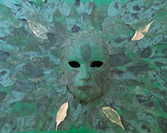 Face of Leaves Giclee Art Print