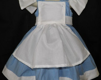 Alice in Wonderland Boutique Dress Halloween Costume Size 2T 3T 4T 5 6