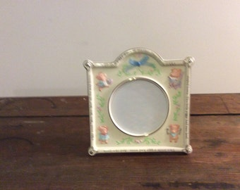 On Sale! Little Piggy Porcelain Baby Photo Frame, Nursery Picture Frame, Collectible Keepsake