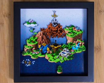 Super Mario RPG - World Map - SNES Shadowbox