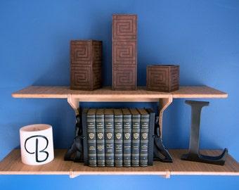 Bamboo Floating Shelf - The Double Shelf