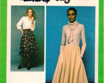 Vintage UNCUT Simplicity Jiffy Pattern 8699 - Misses Jiffy Skirt in Two Lengths - Size 6-8