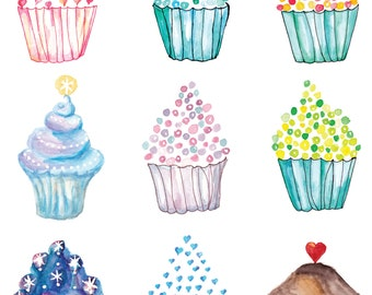 Cupcake Instant Download Poster
