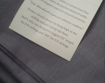 Custom Drapes-Our Linen or Your Fabric