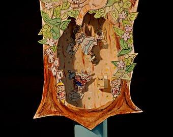 3-D Original Art Diorama Alice in Wonderland Altoids Box