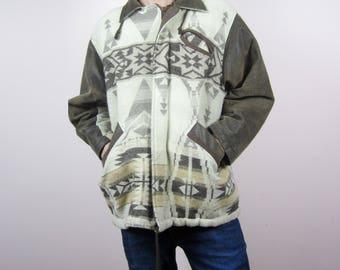 vintage LEATHER Cheyene tribal leather jacket MPAIYSfu