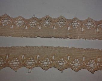 lace of calais beige 11mm x 3 meters, beige lace, lace straps