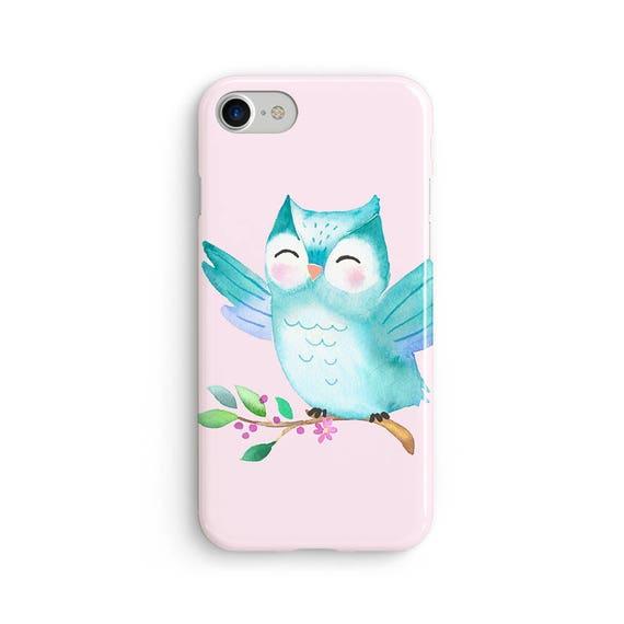 Cute watercolor owl  iPhone X case - iPhone 8 case - Samsung Galaxy S8 case - iPhone 7 case - Tough case 1P033