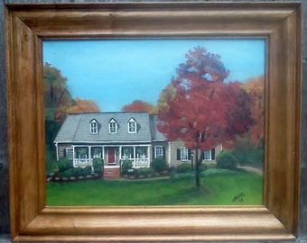 House portraits with custom frame,home portrait,corporate gift,real estate agent gift