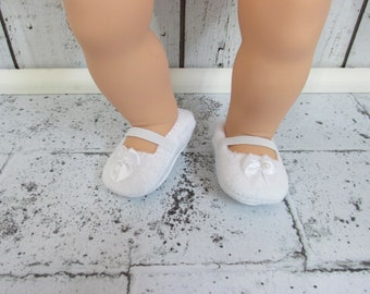 "Shoes to Fit Dolls Same in Size as Bitty Baby.Shoes to Fit 18"" Dolls.Bitty Baby Size Shoes.White Doll Shoes."