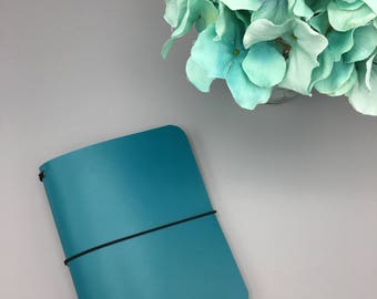 Marine Teal - Leather Traveler's Notebook/Fauxdori/TN Planner Cover