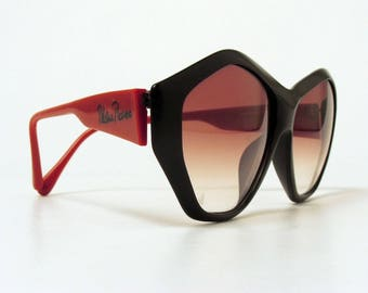 Vintage PALOMA PICASSO Sunglasses - Red/Black - Viennaline Optyl 1463 90 - 1980s - Germany