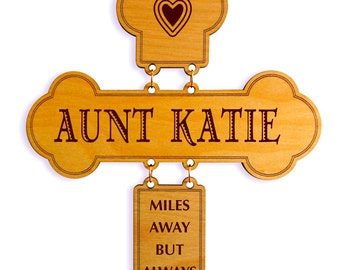 Mothers Day Gift for Aunt - Aunt Birthday Gifts -  Aunt Appreciation Gift from Niece and Nephew - Personalized Aunt Gift Ideas - Cross