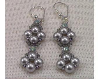 Raw Pearl and Montee Earrings PDF (Instant Download)